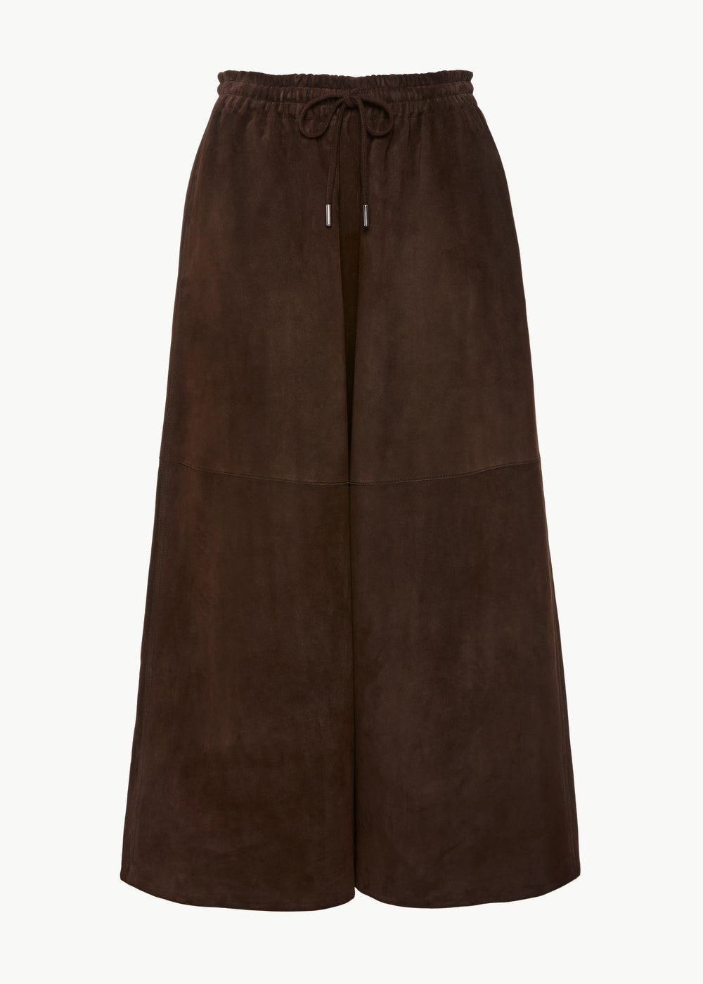 Drawstring Pant in Suede - Brown - CO