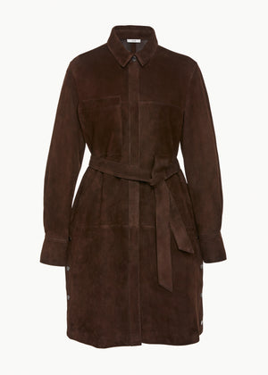 Longsleeve Tunic in Suede - Brown - CO