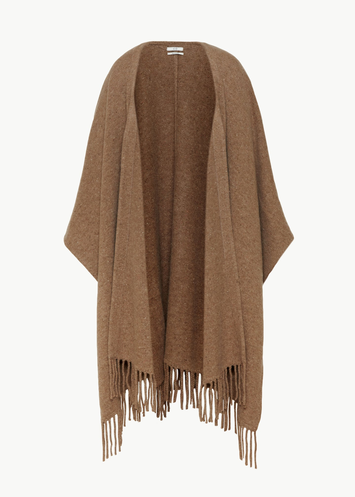 Poncho in Cashmere - Speckled Pecan - CO