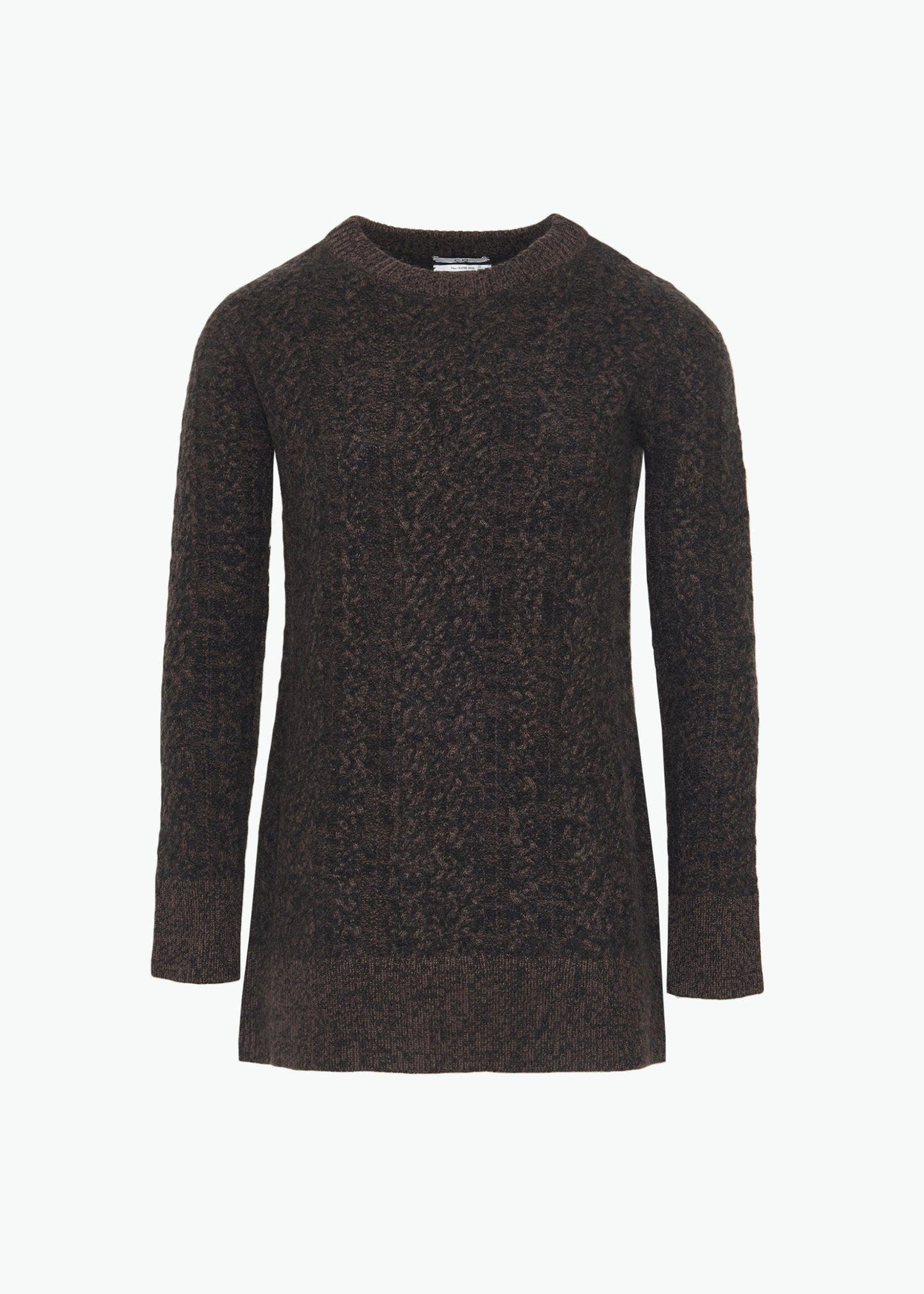 Cable Knit Sweater in Cashmere - Umber Melange - CO