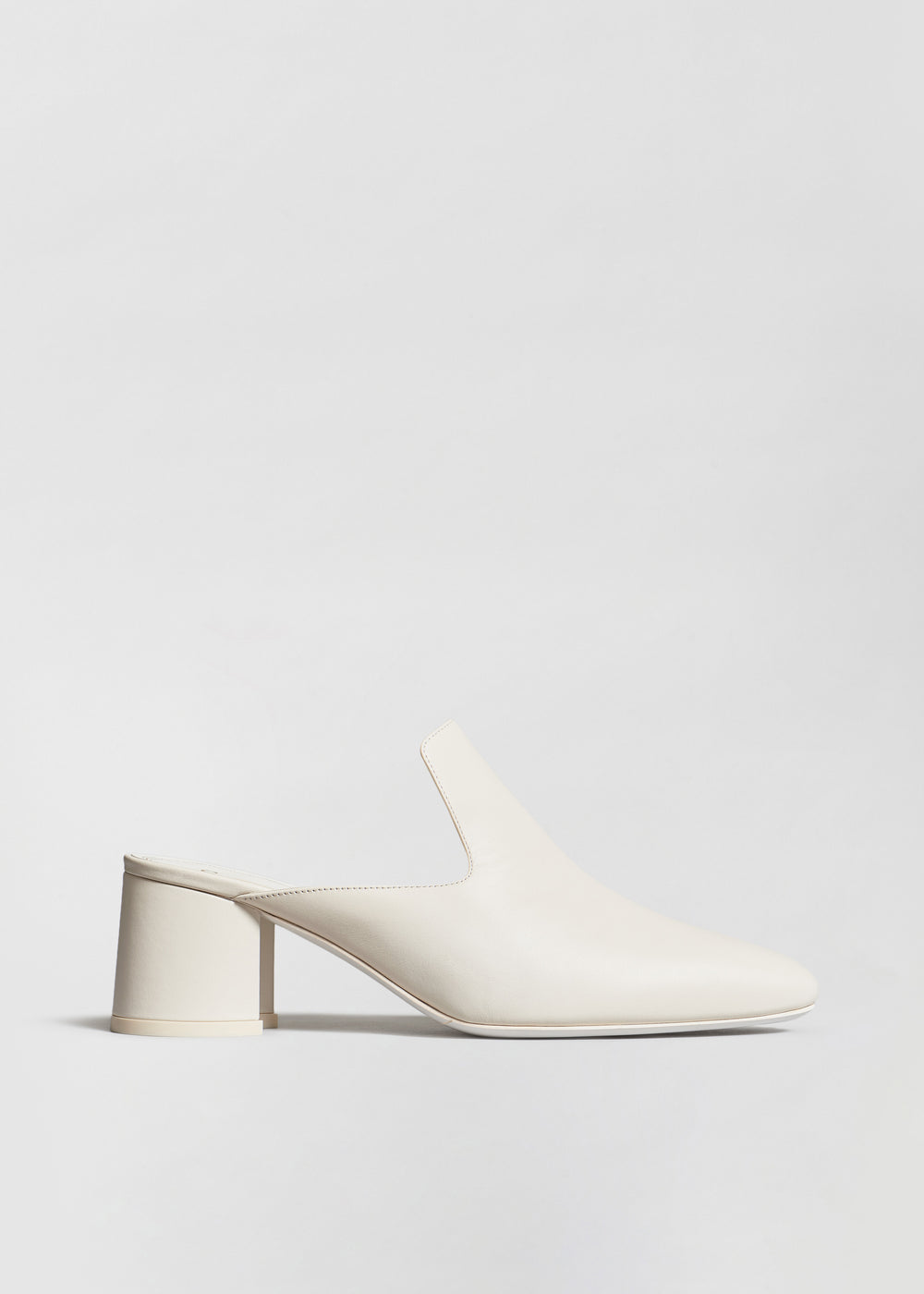 Mule in Smooth Leather - White - CO Collections
