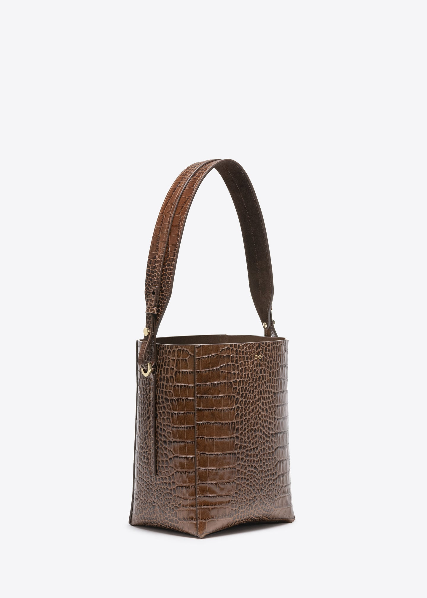 Small Bucket Bag in Embossed Leather - CO