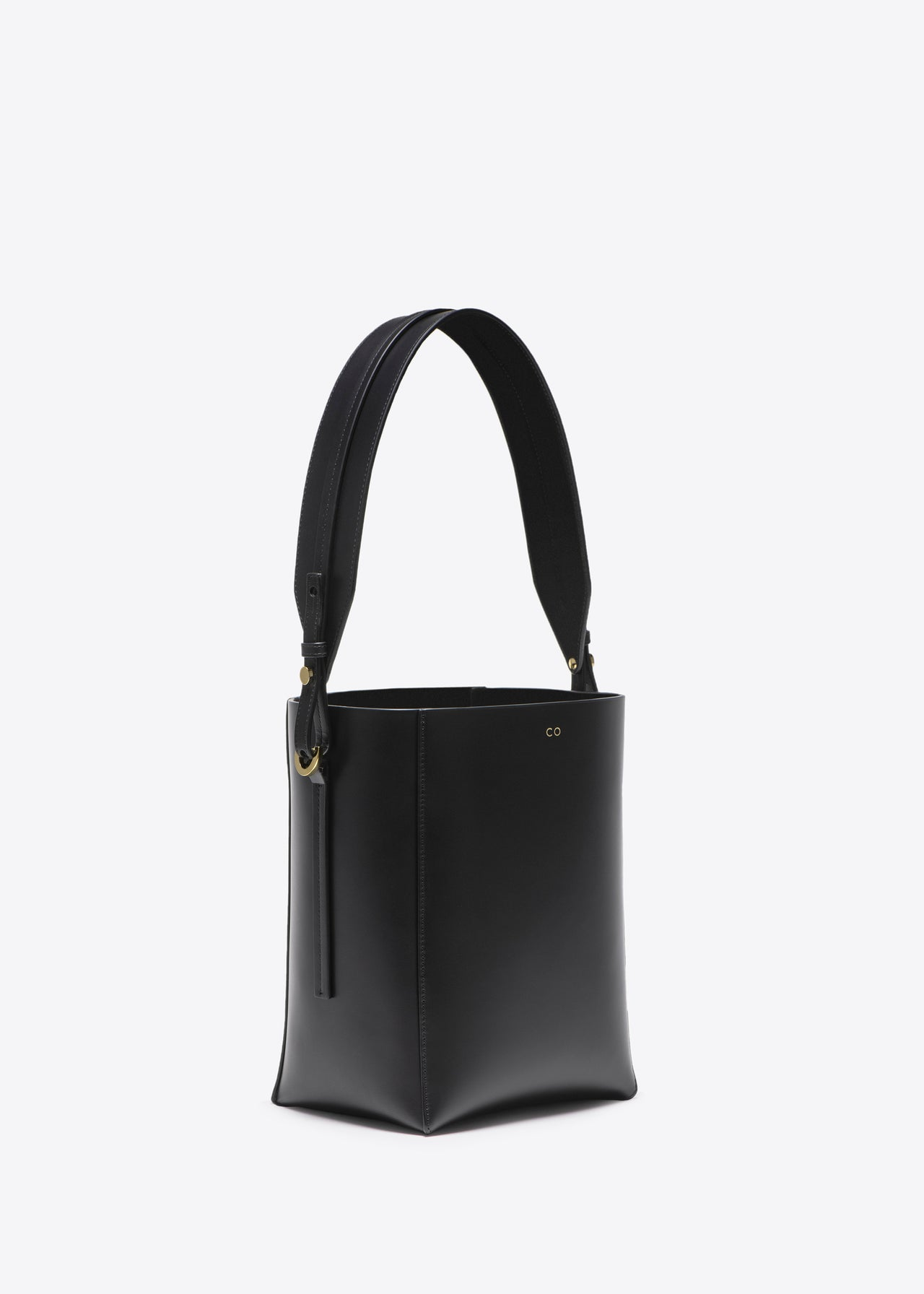 Small Bucket Bag in Smooth Leather