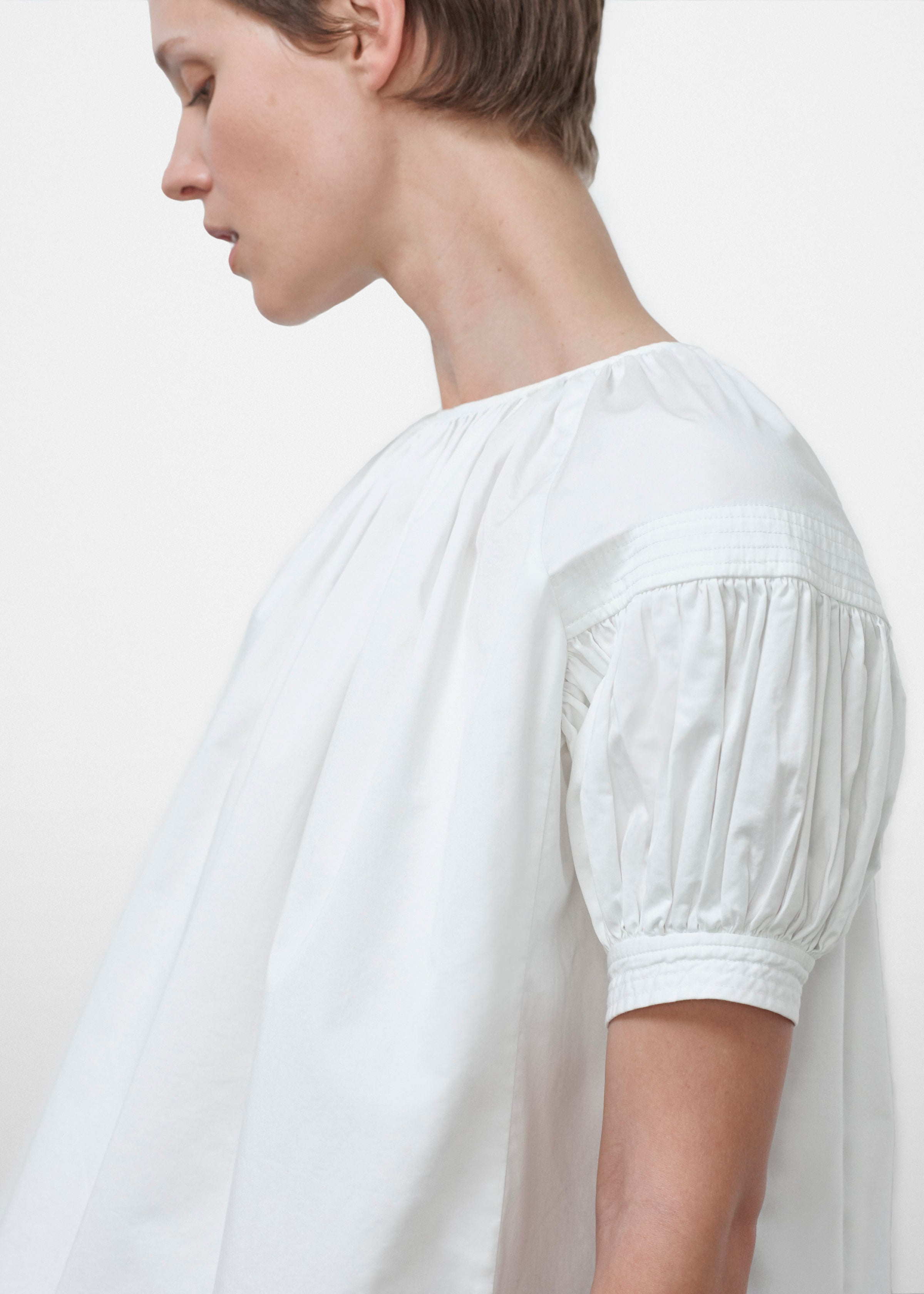 Pleat Detail Trapunto Blouse