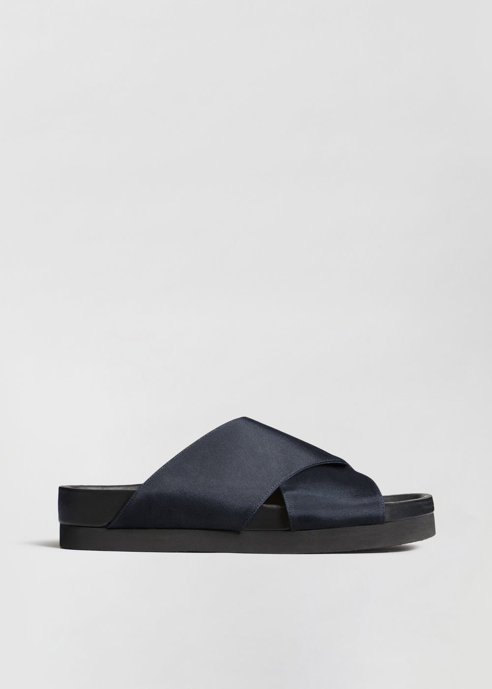 Slide Sandal in Grosgrain - Navy - CO Collections