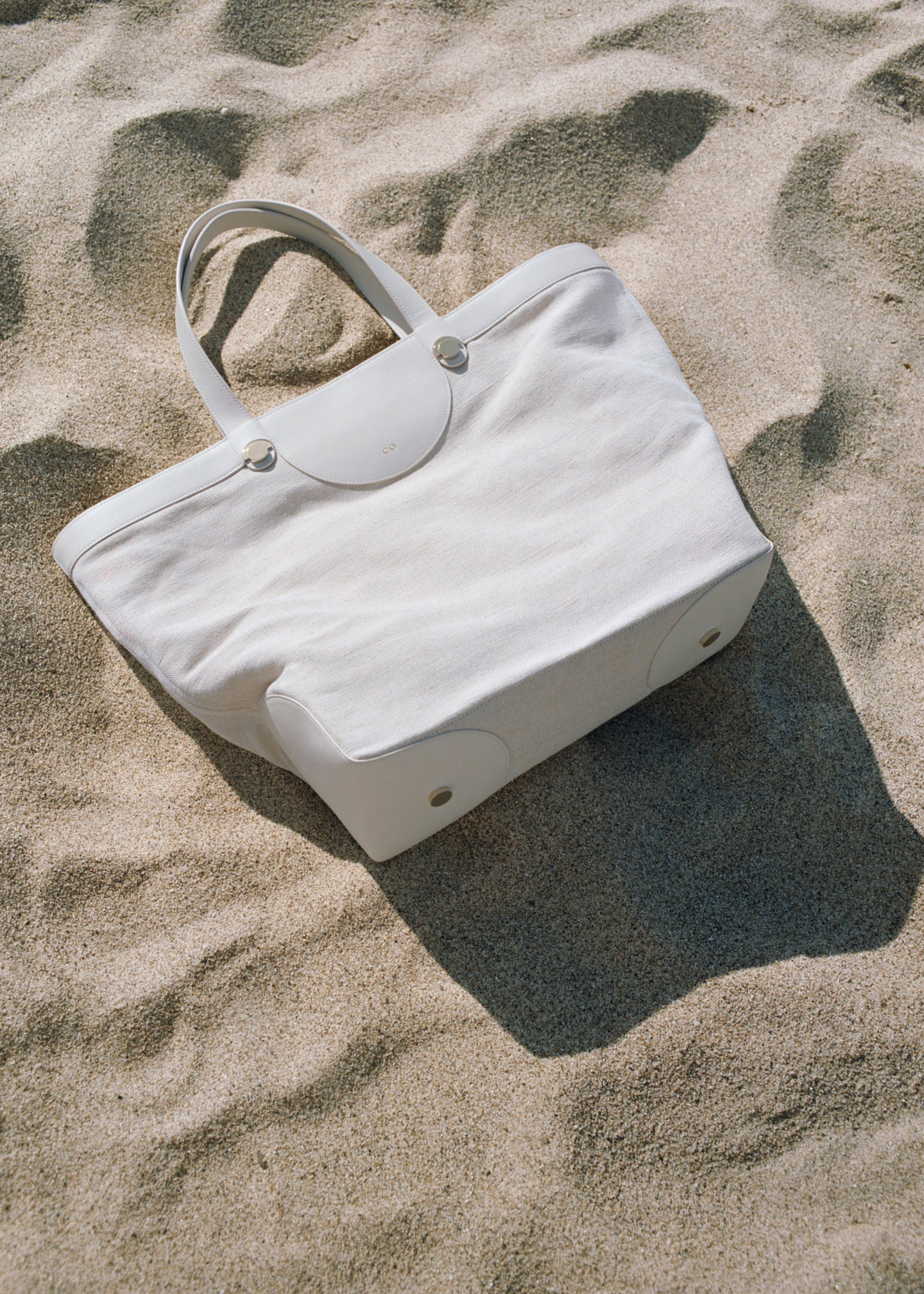 Collector Tote in Linen and Leather - CO