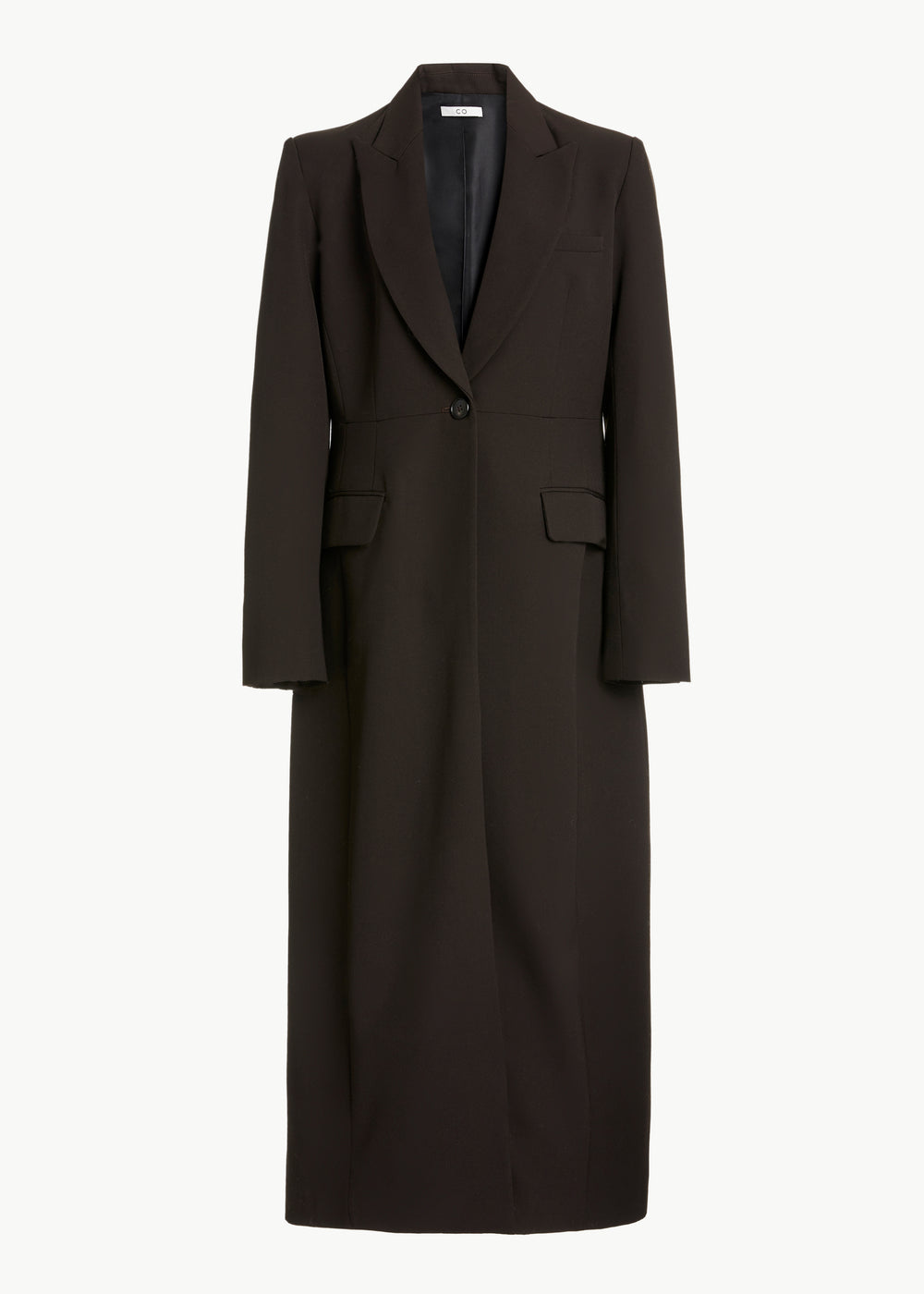 Long Blazer in Gabardine - Umber - CO