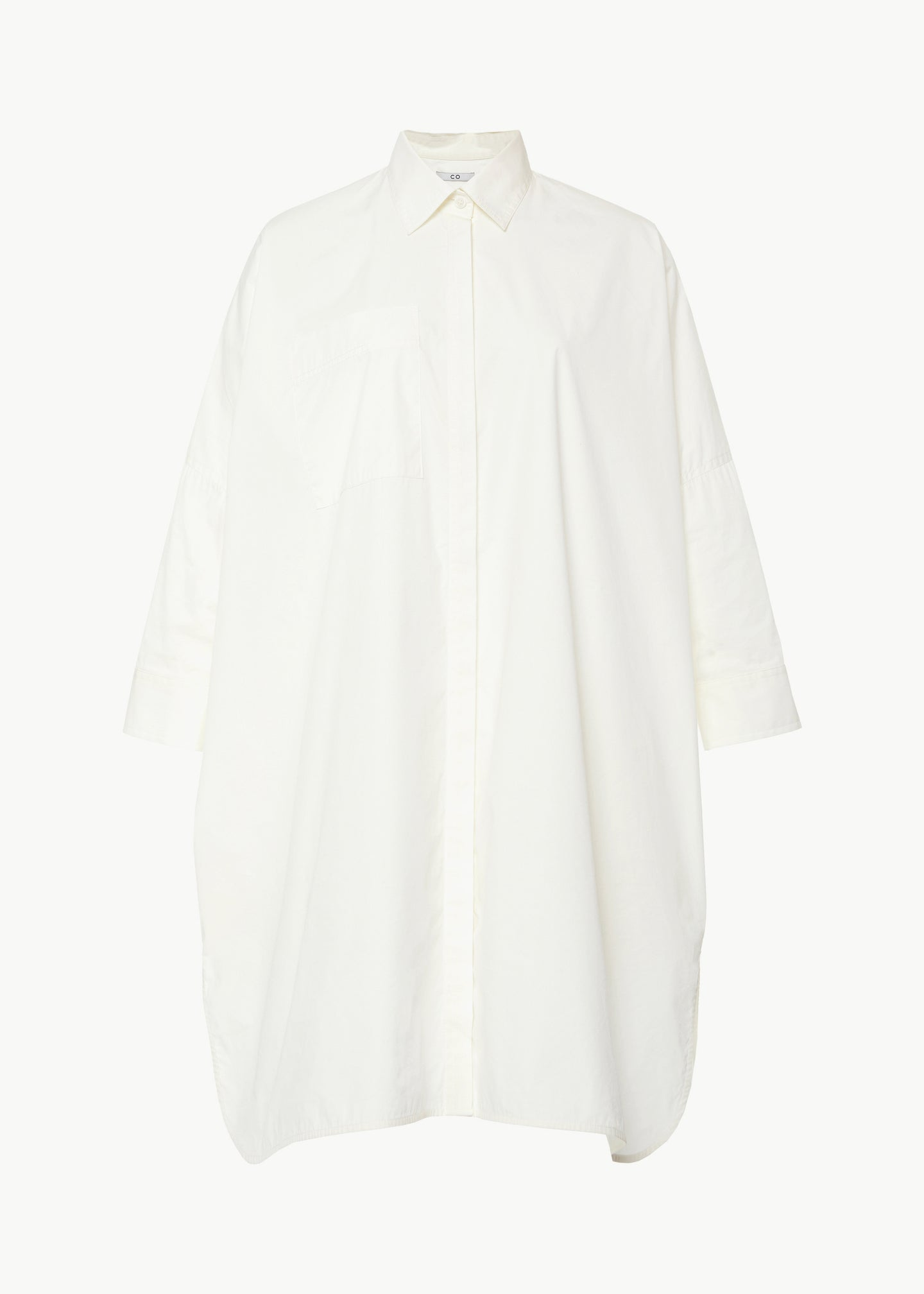 Button Down Shirt in Cotton - White - CO