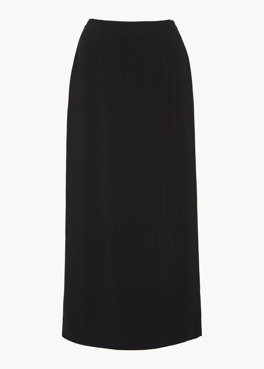 Slim Skirt in Stretch Crepe - Black - CO