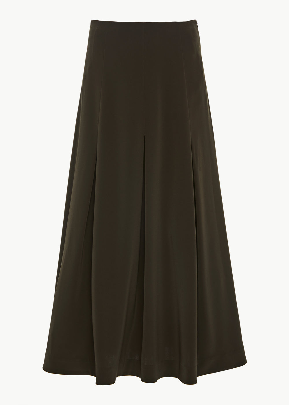 Midi Pleated Skirt in Stretch Crepe - Forest - CO