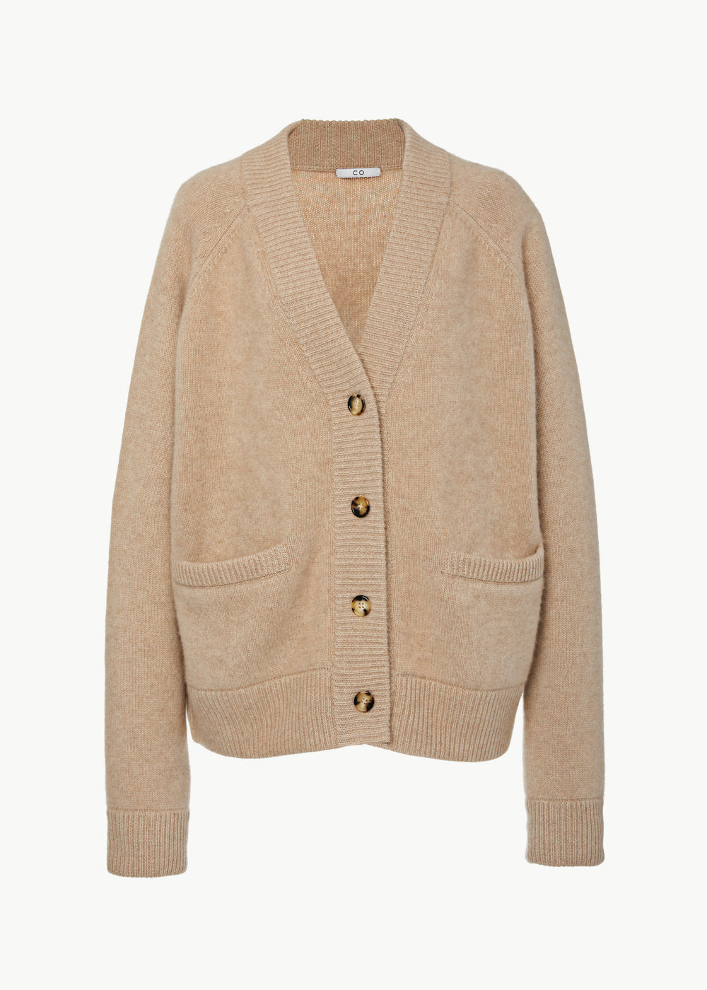 Oversized Cardigan in Cashmere - Sand - CO