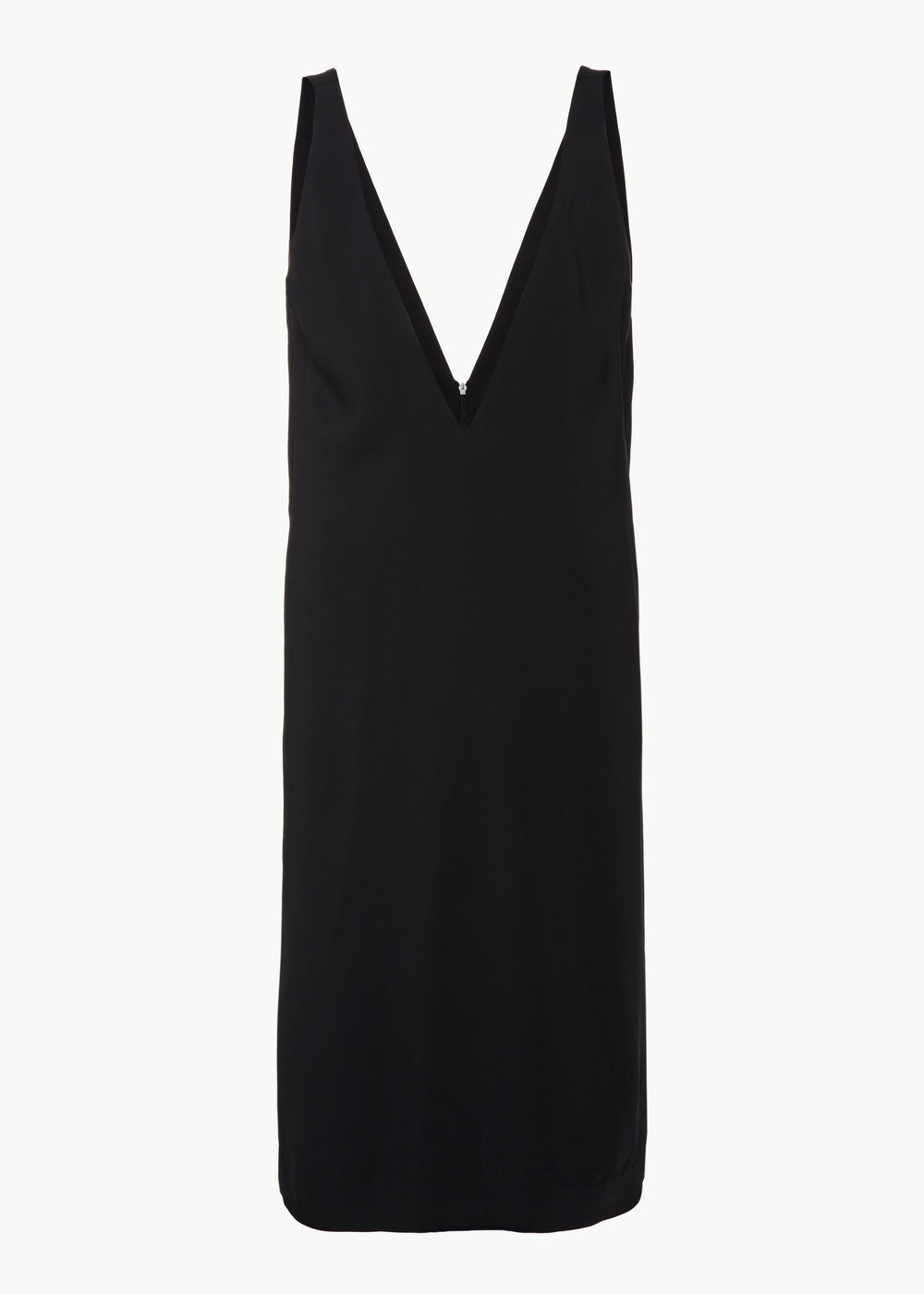 V-Neck Dress in Stretch Crepe - Black - CO