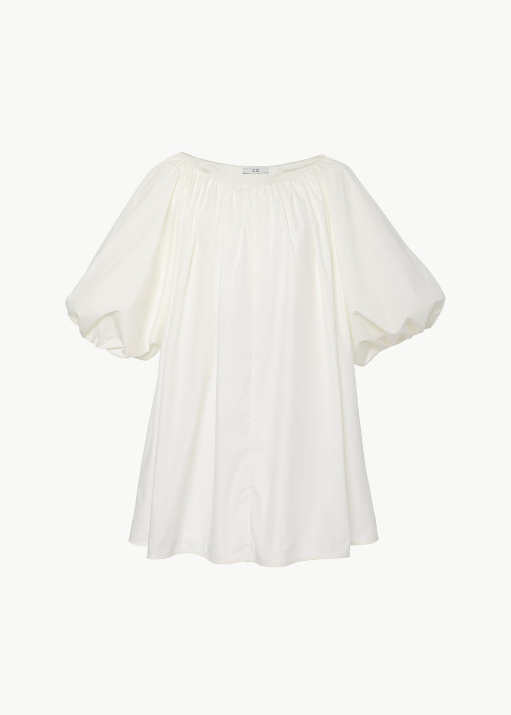 Ruched Top in Cotton - White - CO
