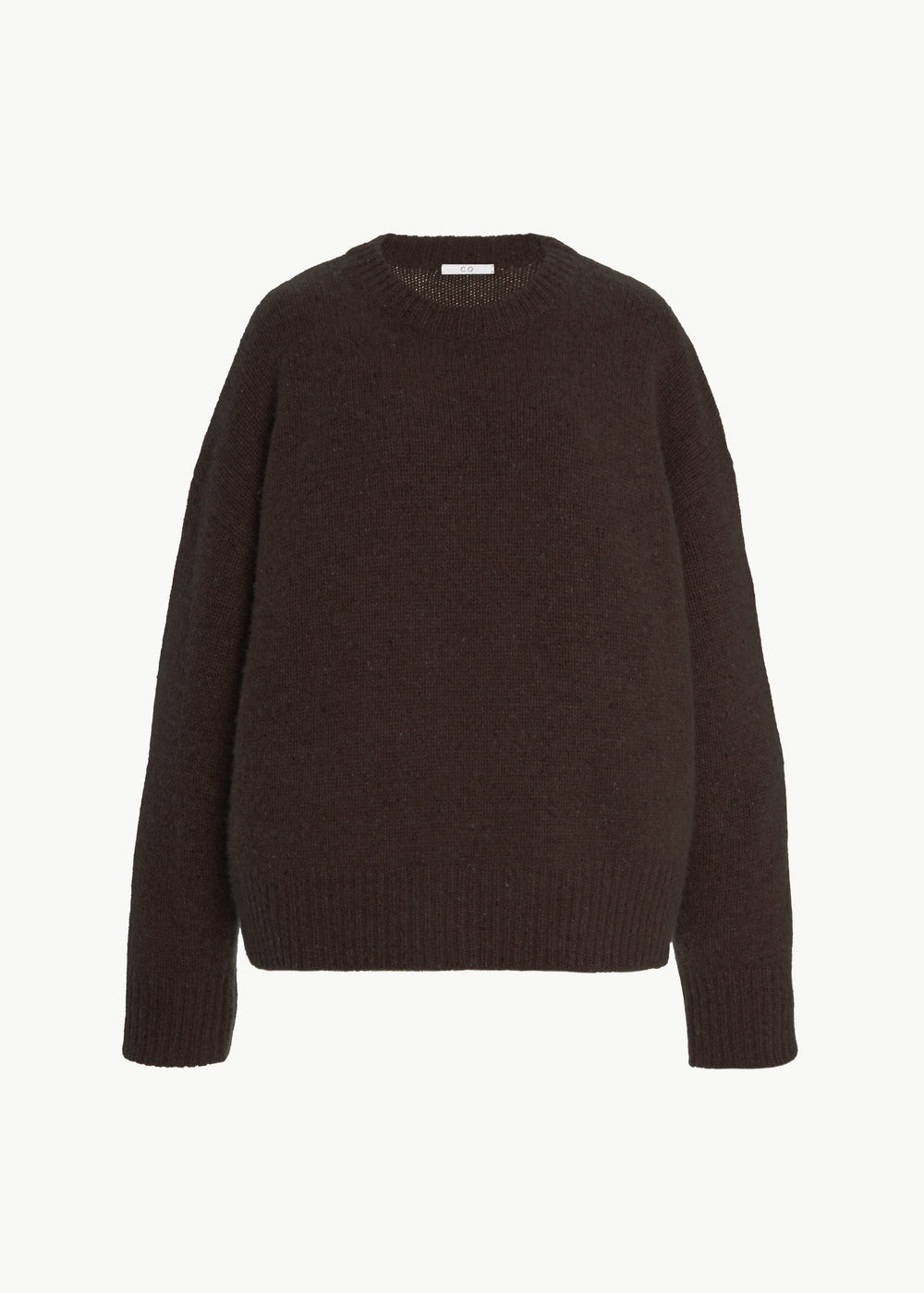 Crew Neck Sweater in Cashmere - Umber Melange - CO