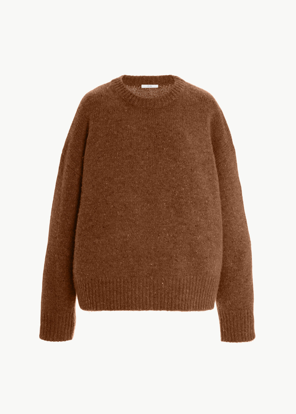 Crew Neck Sweater in Cashmere - Chestnut - CO
