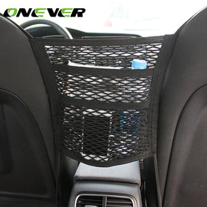 Onever 3 Layer Car Seat Side Back Storage Mesh Bag Organizers Car
