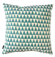 Load image into Gallery viewer, Cushion Cover Triangle Aqua Organic Cotton