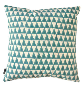 Cushion Cover Triangle Aqua Organic Cotton