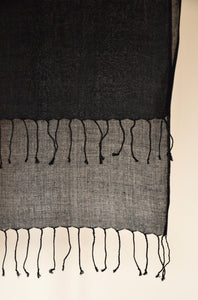 Scarf Twist Cotton Deluxe Black