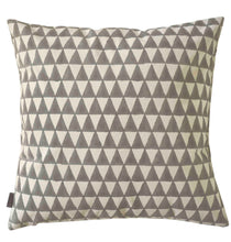 Load image into Gallery viewer, Cushion Cover Triangle Grey Organic Cotton