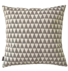 Cushion Cover Triangle Grey Organic Cotton