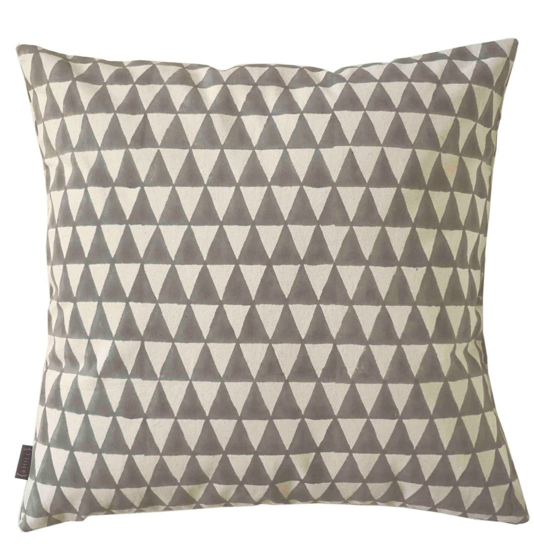 Triangle Grey Cushion cover