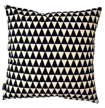 Load image into Gallery viewer, Cushion Cover Triangle Black Organic Cotton