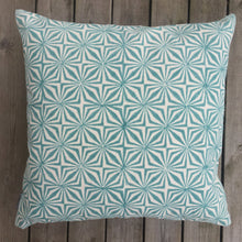 Load image into Gallery viewer, Cushion Cover Facet Aqua Organic Cotton