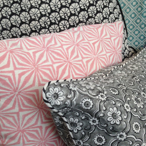Cushion Cover Facet Rose Organic Cotton