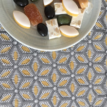 Load image into Gallery viewer, Tablecloth Organic Cotton - Tara Grey/Yellow 150x265 cm
