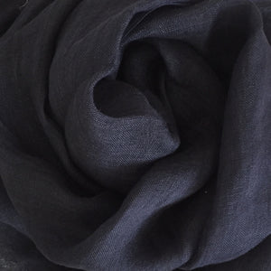 Scarf Washed Linen Dark Indigo
