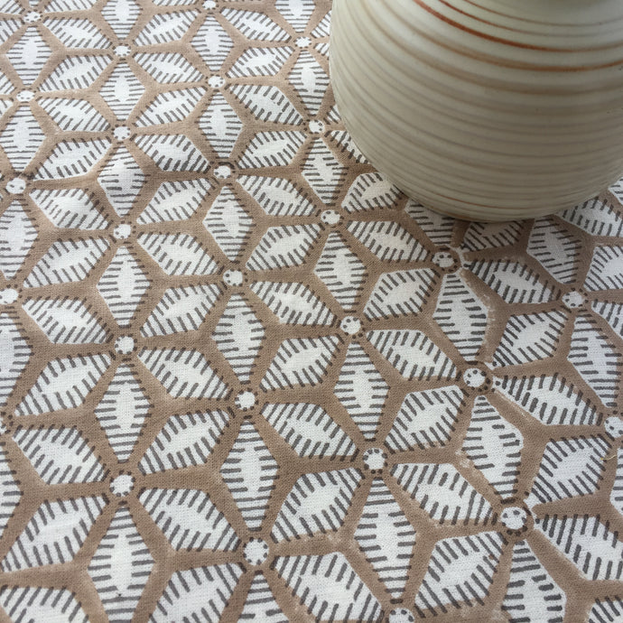 Tablecloth Organic Cotton - Tara Sand Beige 150x340 cm
