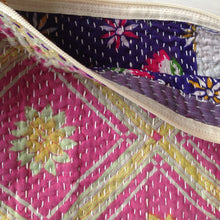Load image into Gallery viewer, Vintage Kantha Pouch - Citrus Pink