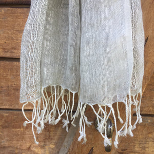 Scarf Linen Net Natural