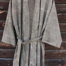 Load image into Gallery viewer, Kimono Pinstripe Block Print Taupe