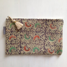 Load image into Gallery viewer, Vintage Kantha Pouch - Purple Garden