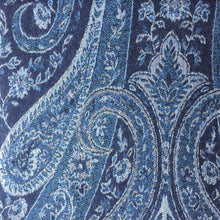 Load image into Gallery viewer, Muffler Scarf Paisley Blue Wool Jacquard