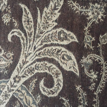 Load image into Gallery viewer, Muffler Scarf Paisley Light Brown Wool Jacquard