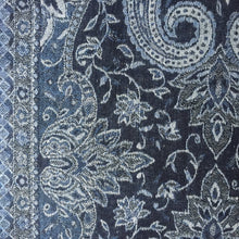 Load image into Gallery viewer, Muffler Scarf Paisley Grey Blue Wool Jacquard