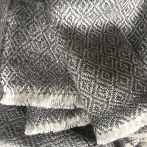 Scarf Diamond Wool Grey