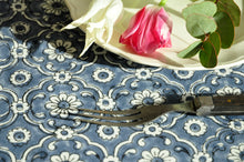 Load image into Gallery viewer, Tablecloth Organic Cotton - Jali Blue 150x150 cm