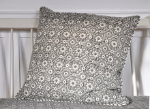 Load image into Gallery viewer, Cushion Cover Organic Cotton Block Print - Jali Grey