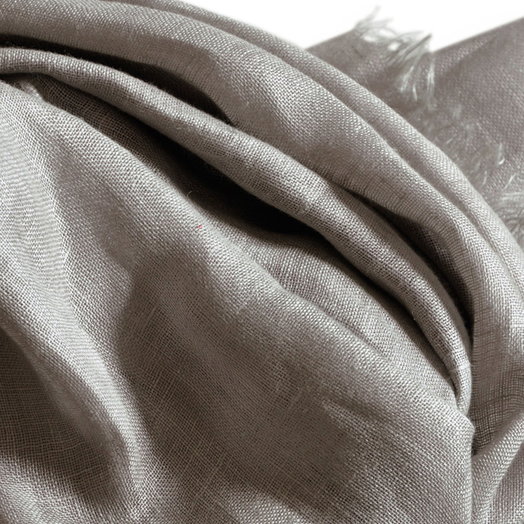 Scarf Chunky Linen Beige