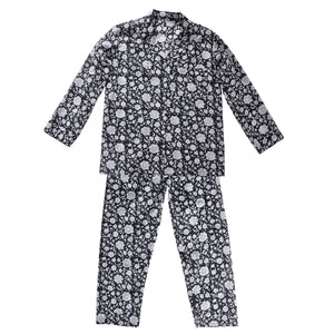 Pyjama Set Block Print Sisodia Black