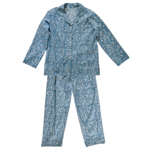 Pyjama Set Block Print Sisodia China Blue