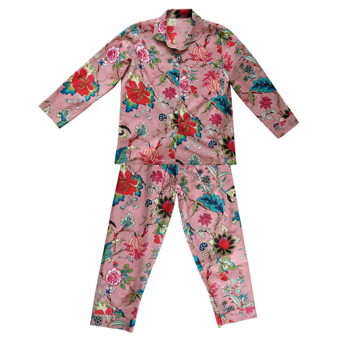 Pyjama Set Floradora Indian Flower Misty Pink
