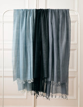 Load image into Gallery viewer, Shawl Shaker Check & Stripe Grey