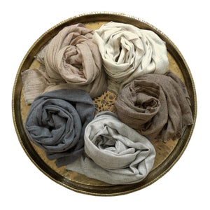 Scarf Soft Wool Grey