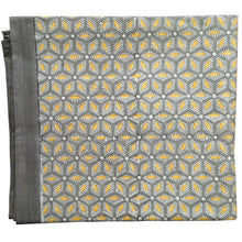Load image into Gallery viewer, Tablecloth Organic Cotton Block Print - Tara Grey/Yellow 150x265 cm