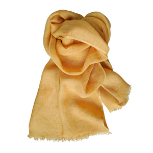 Scarf Washed Linen Yellow